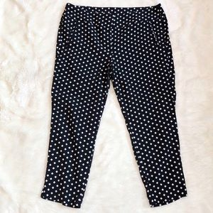 Lane Bryant Black & White Patterned Pant size 22
